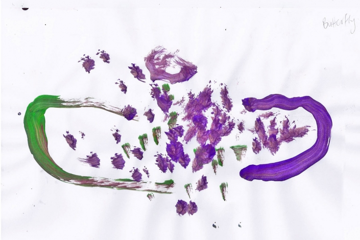 Things That Fly - Childrens Artwork - Oliver Butterfly