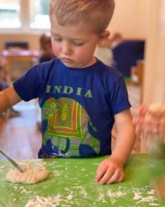 Kneading dough (preschool)